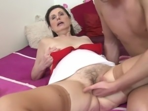 Hot milf and her younger lover 165