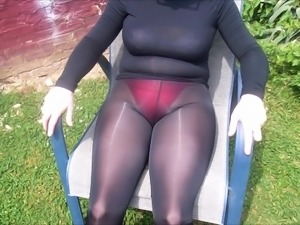 Spandex Angel - Sexy see through leggings outside