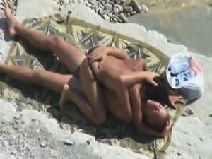 Voyeur Tapes Fucking On Beach