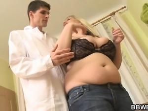 Skinny doctor fucks blonde bbw