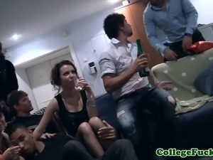 College teens drilled at fuck party