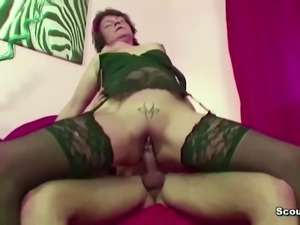 Mom Caught Friend of Daughter Jerk and let him Fuck