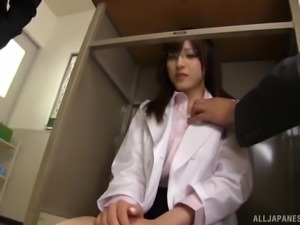 Japanese teacher Iioka Kanako's barely covered ass in mini-skirts, causes...