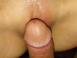 Wife playing with her cream pied pussy