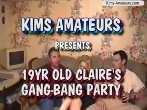 Nineteen year old Clairs gangbang