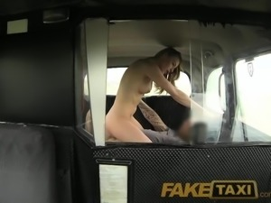 FakeTaxi Cute blonde takes on big cock