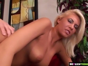 BrokenTeens - Blondie Gets Her Perfect Tits Jizzed Upon
