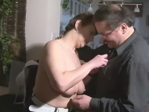 Mature Couple Fucking In Kitchen
