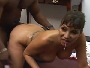 Busty milf Ava likes big black cock