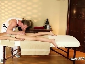 Very tricky spa of hot masseur