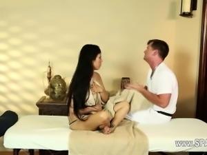 Luxury busty women in secret massage saloon