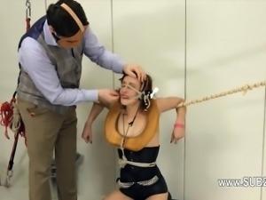 graceful BDSM toilet slut fucked anally hard