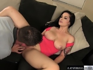 Busty Katrina Jade is on the prowl for a hard cock and a deep drilling