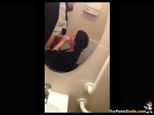 Getting taken in a wedding in toilet