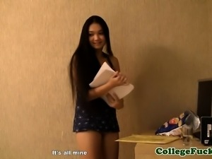 Euro college babes fucked in coed dorm orgy