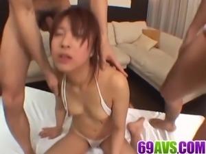 Ayumi Haruna gets serious dicks to smash her bush