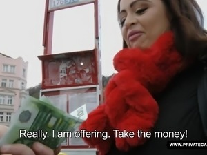 Sirale is offered hundreds of Euros just to show off her tits for the camera,...
