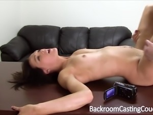 Fit Amateur Teen Ass Fucked and Cum Covered