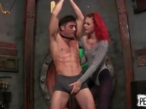10 Kicks to Lick Ariel Kay's Pussy w Lance Hart BALLBUSTING