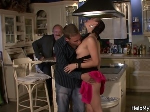 His hot wife sucks and fucks stranger