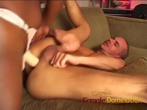 Dominant black girl sucks dick and drills her boyfriend's