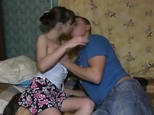 Sweetheart satisfied 2 very hungry peckers with blowjobs