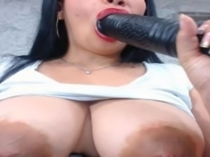 Latina Milf masturbating on webcam