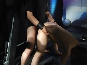 Bondage vibrator hard smashing for slave restless pussy