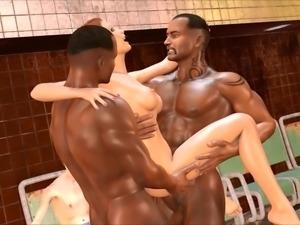 Subway Showdown 3d Babe Takes Multiple Cocks