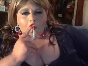Sissy BBW Blonde Bimbo Smoke Slut AKA Diane Le Queen