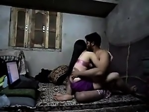 Young Indian couple tries out various positions making love