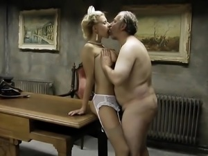 Sexy old army man fucking whore