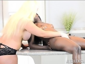 Alura Jenson Interracial Lesbian Action with Bella Doll