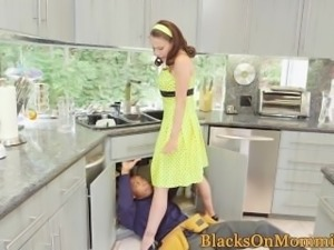 BBC loving housewife enjoys a spitroasting
