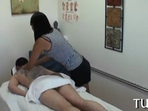 Unforgettable sex in massage room