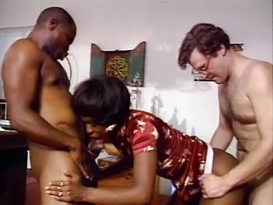 One hard cock is not enough for this ebony
