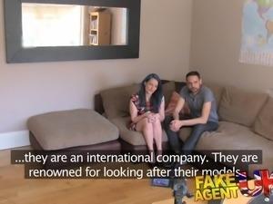 FakeAgentUK Casting threesome for horny couple