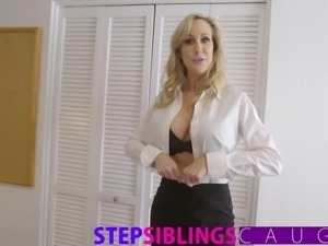 Brother and step sister family FFM fuck with slutty MILF