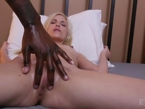 Piper was tired of having sex with white boys. She wanted a big black cock,...