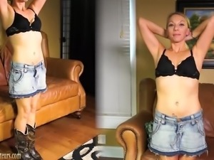 Amateur MILF gets dirty on a casting couch