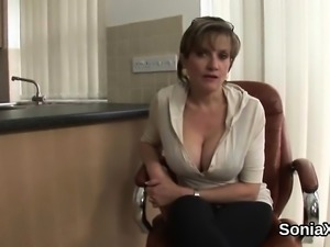 Unfaithful british mature gill ellis flaunts her large tits