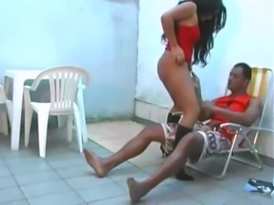Stunning latina fucked in high heels