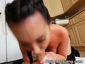 Huge Round Ass Brittany Shae Sucking Dick In Kitchen