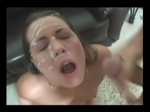 She takes Two Huge Facials