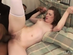 Overly sex obsessed hoe Lia Rav needs a confident man with a big cock