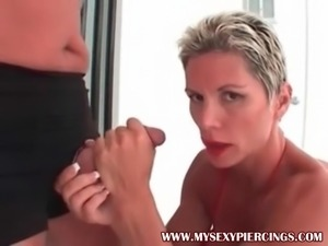 My Sexy Piercings Slave dominated heavy pierced MILF Heather