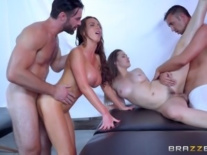Both Dani and Nikki just can't wait to have another foursome session!
