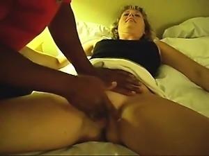 It is spread by Roseann to get a black dick