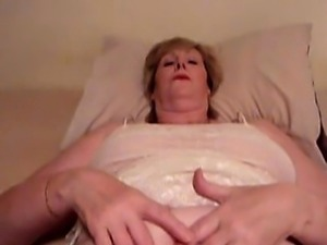 sexy granny karen fingers herself to orgasm