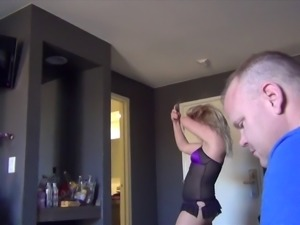 Sluts in a hotel room giving blowjobs and getting fucked